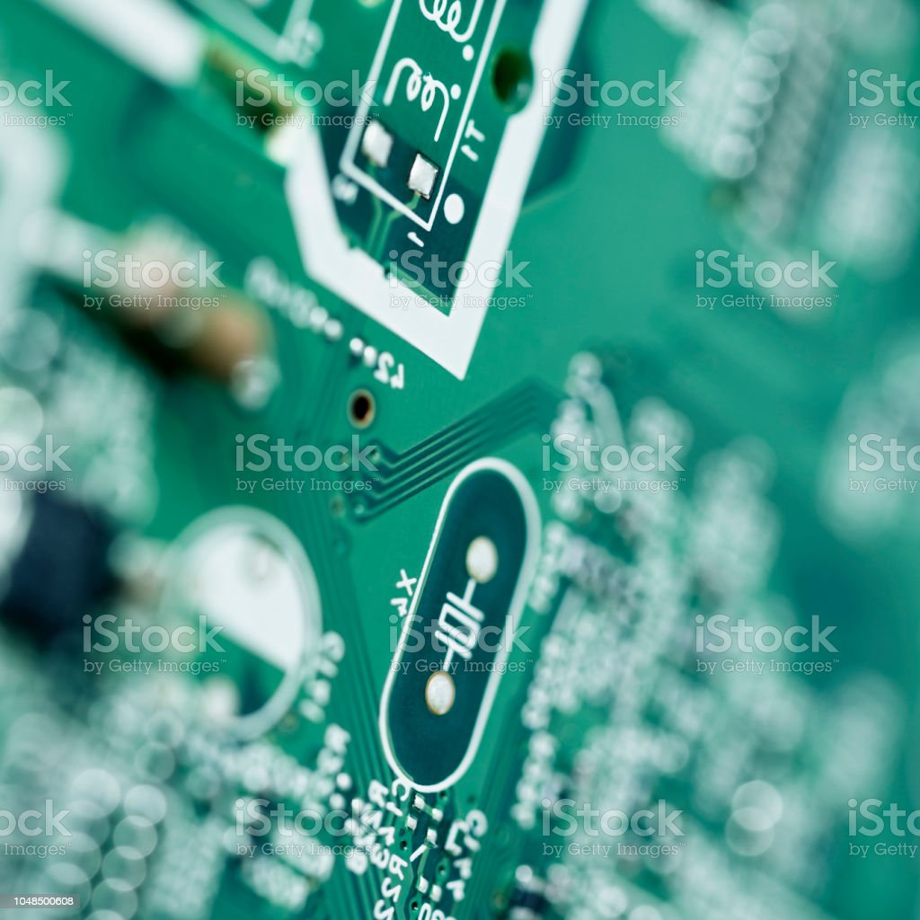 Electronics background with circuit board computer stock photo