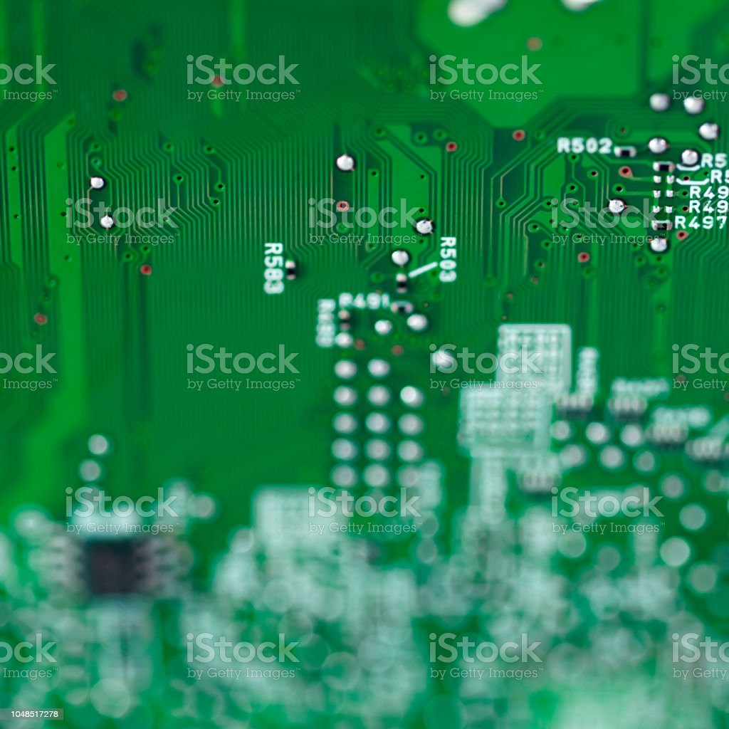 Electronics background with circuit board stock photo