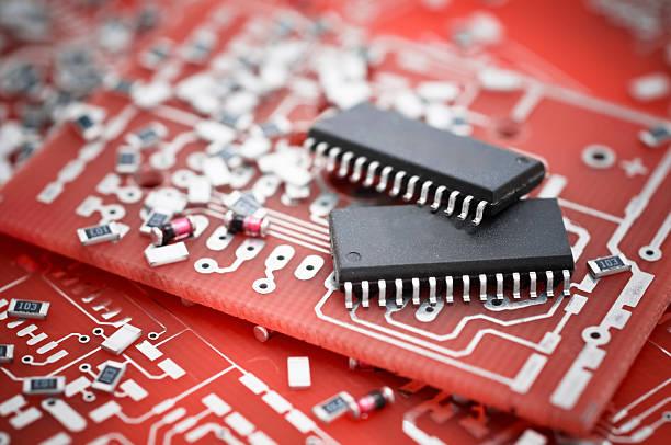 electronics schaltkreis komponenten - godfriededelman stock-fotos und bilder