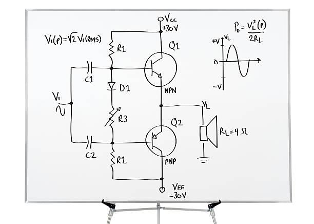 Elektronik-Zeichnung auf whiteboard – Foto