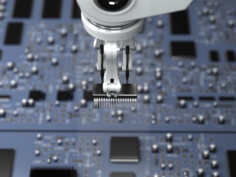 Elektronikindustrie Stockfoto und mehr Bilder von Blau