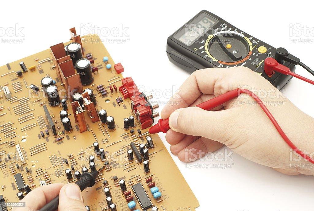 Electronics measurement royalty-free stock photo
