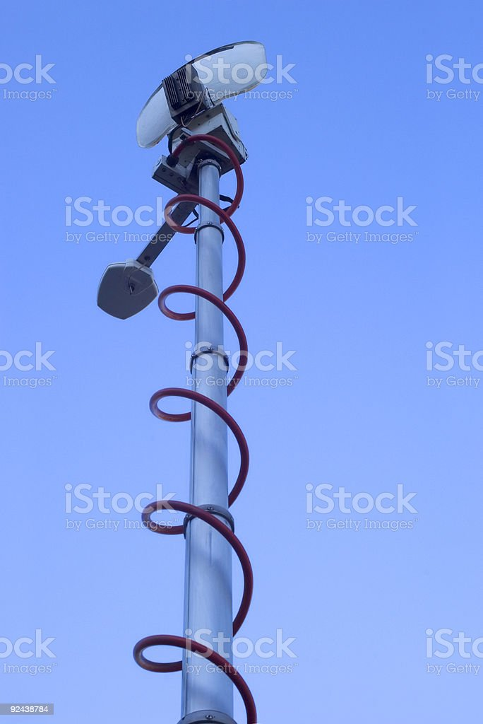 Electronics - Outside Broadcast Aerial royalty-free stock photo