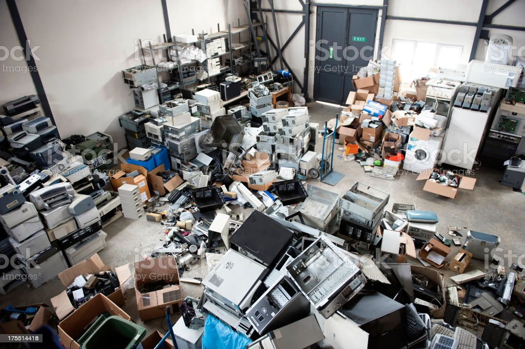 Electronics Recycling stock photo