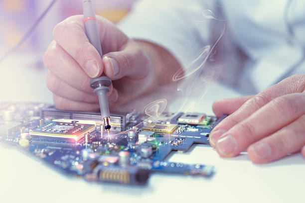 Electronics repair service stock photo
