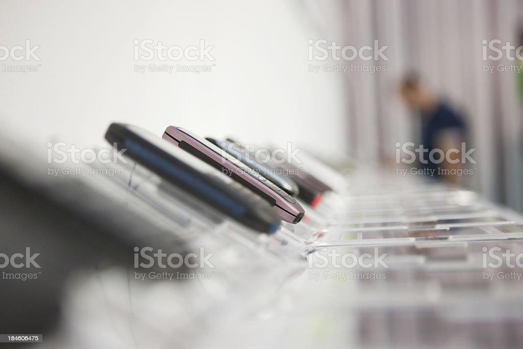 Electronics store stock photo