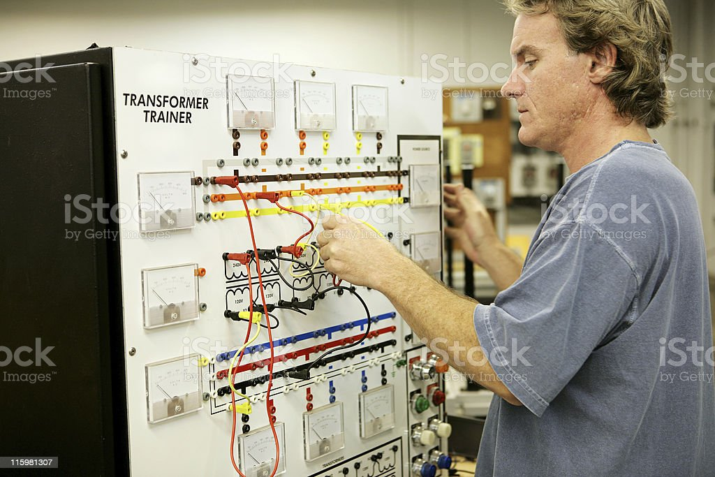 Electronics Training royalty-free stock photo