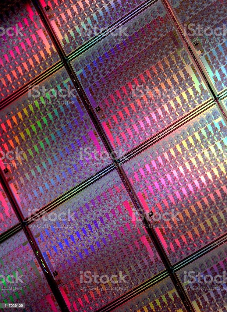 Electronics wafer stock photo