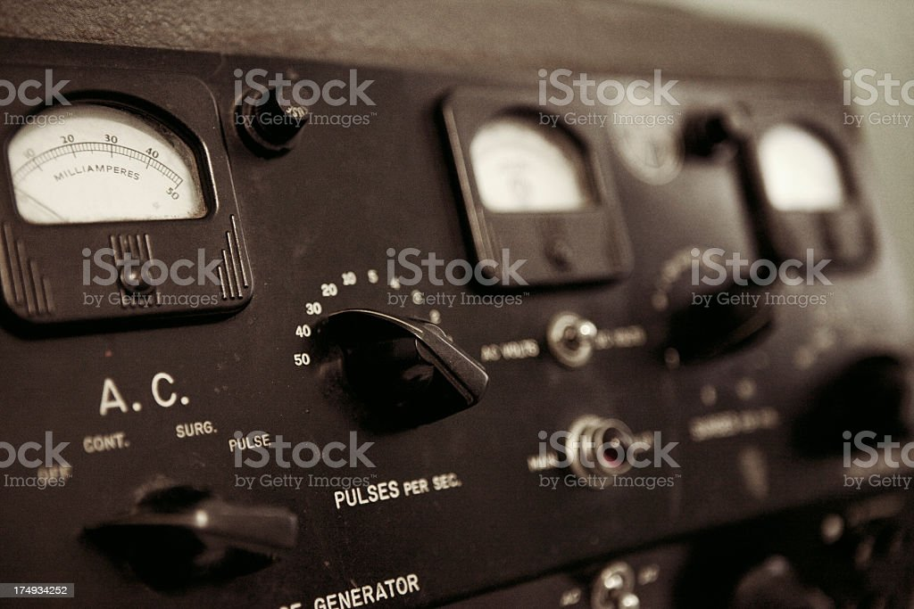 Electro-Shock Machine stock photo