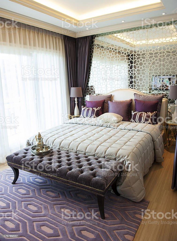 Elegance bedroom suite royalty-free stock photo