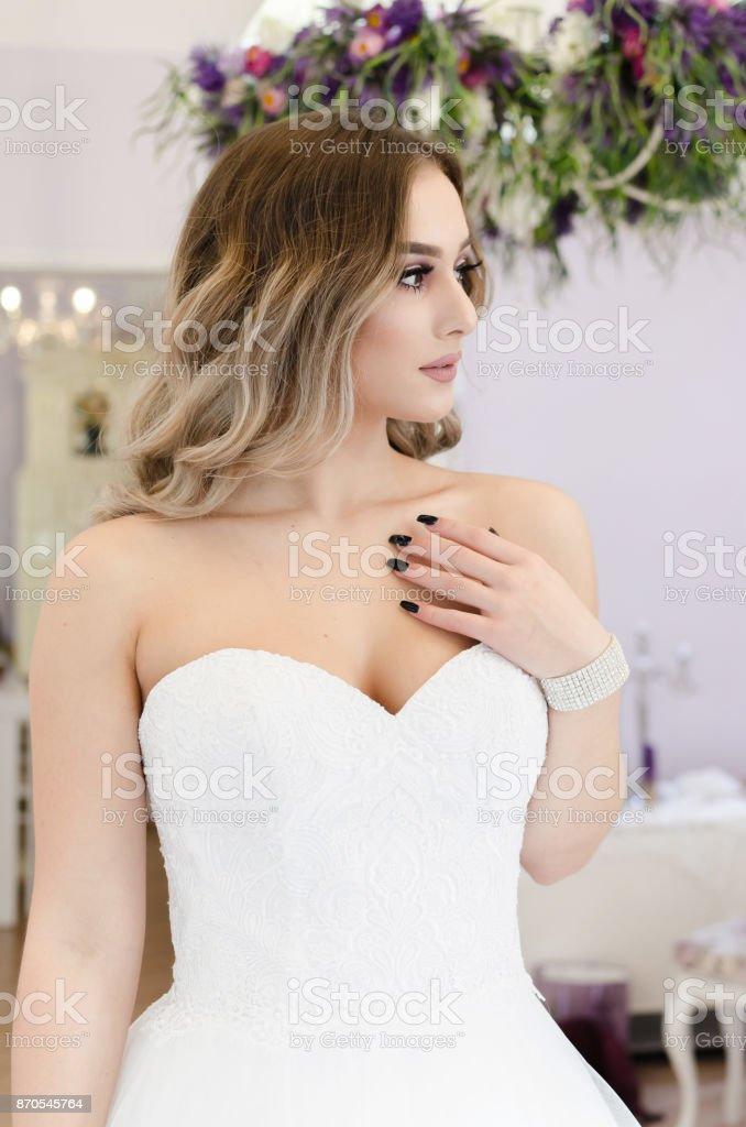Elegance bride woman portrait stock photo