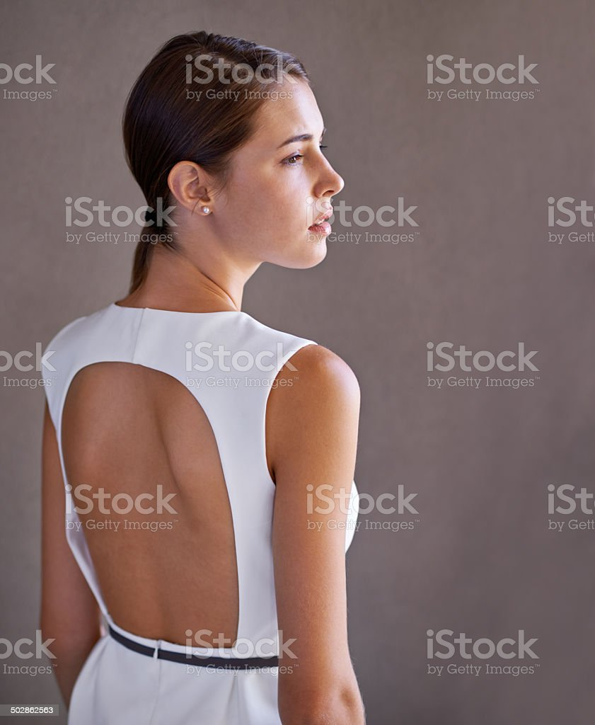 Elegance in white stock photo