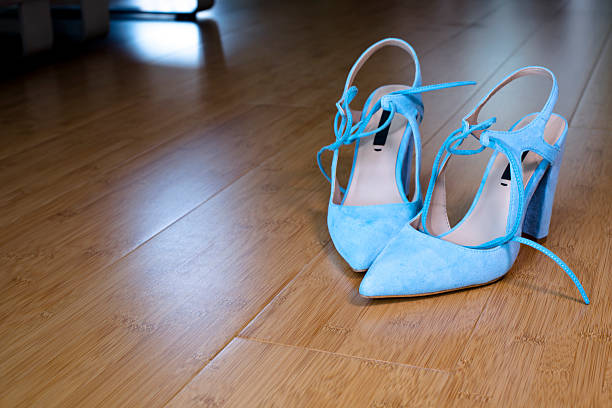 Elegance of woman depends on her shoes stock photo