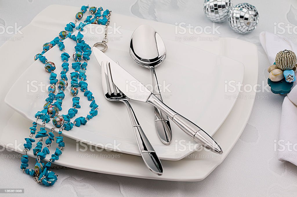 Elegance Silverware royalty-free stock photo