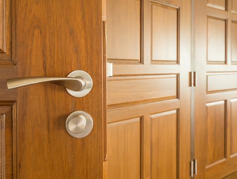 Elegance Teakwood Wooden Door Modern Classic Style Decorative Stock Photo Download Image Now Istock