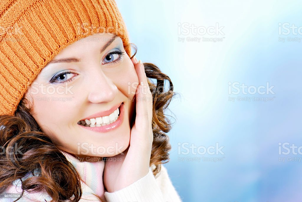 Elegance teen face royalty-free stock photo