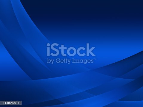istock Elegant Abstract Blue Wave Background 1148268211