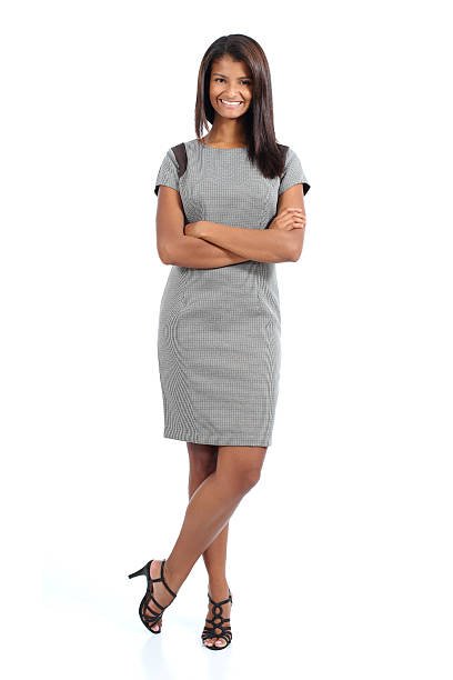 Elegant african american woman posing stock photo