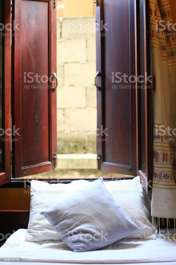 Elegantes Und Komfortables Haus Hotel Schlafzimmer Innenraum
