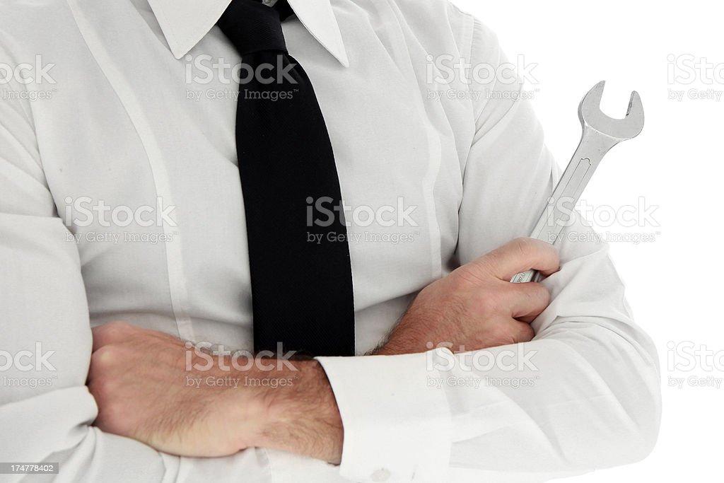Elegant and Confident Repairman royalty-free stock photo