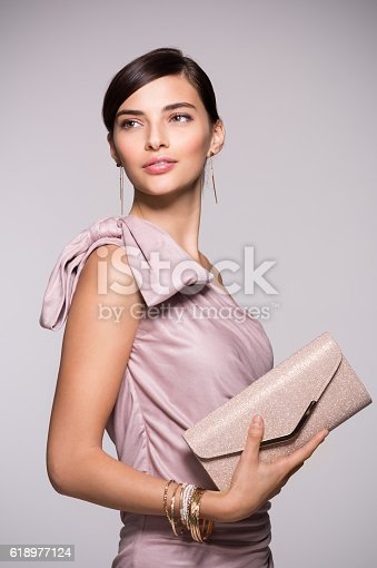 istock Elegant and fashion woman 618977124
