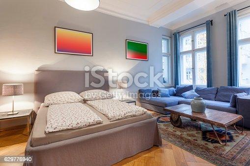 istock Elegant and Modern Hotel Room 629776940