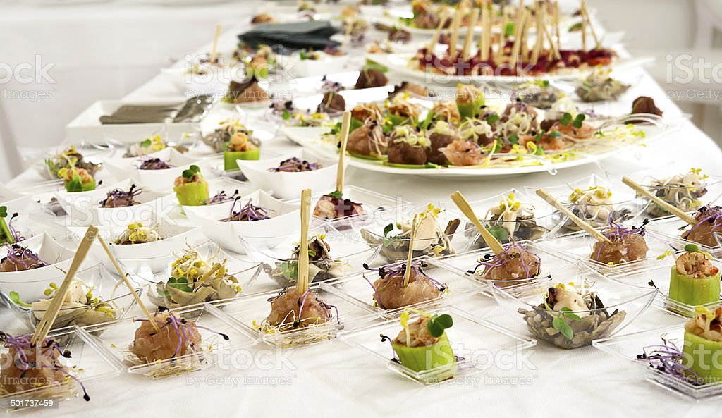 elegant appetizers finger foods stock photo more pictures of