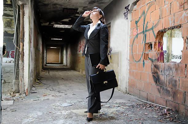 Elegant architect woman stock photo