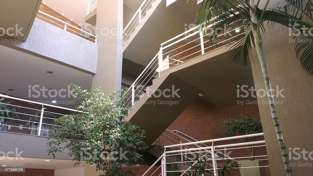 Elegant Architecture with trees royalty-free stock photo