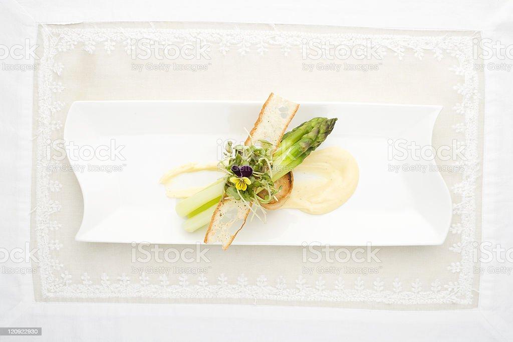 Elegant asparagus royalty-free stock photo