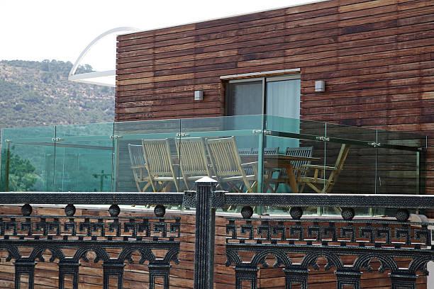 Elegant balcony stock photo
