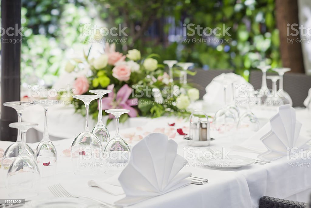 Elegant banquet table royalty-free stock photo