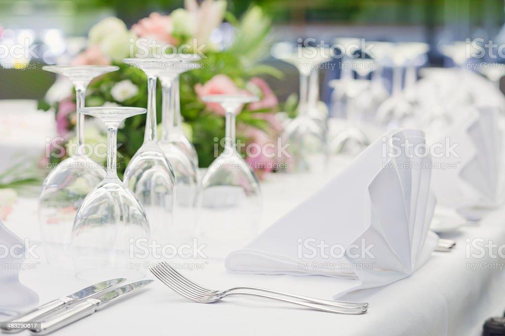 Elegant banquet table royalty-free stock photo