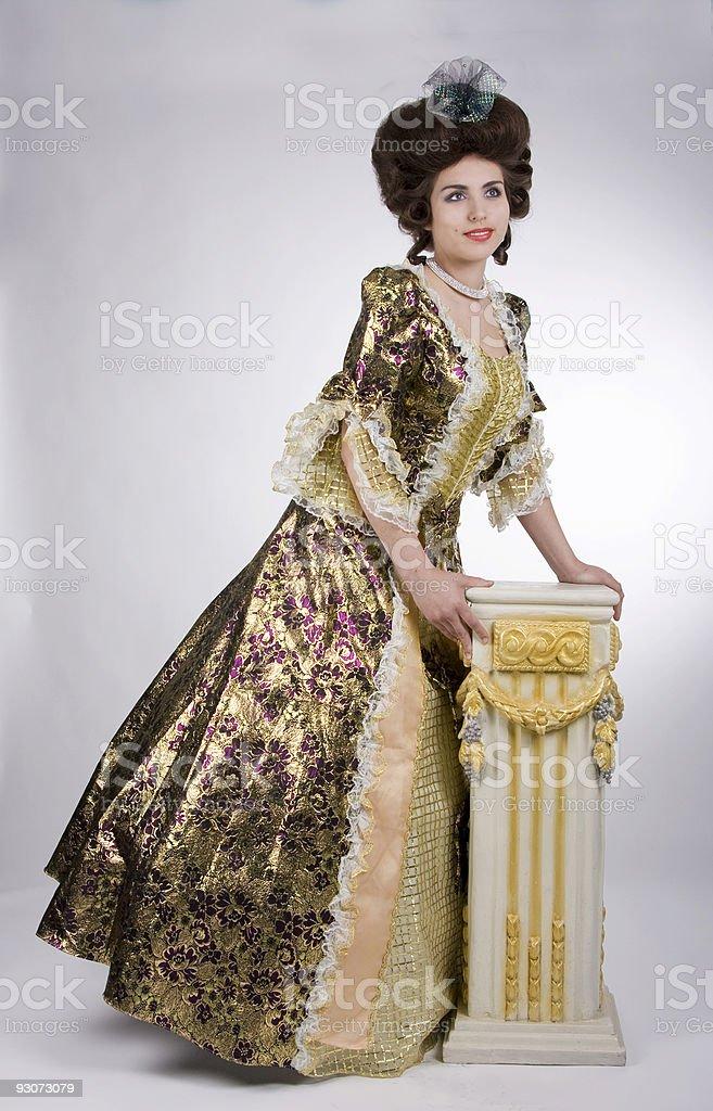 Elegant baroque woman royalty-free stock photo