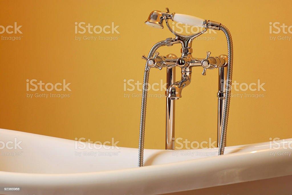 Elegant bath tub, isolated royalty-free stock photo