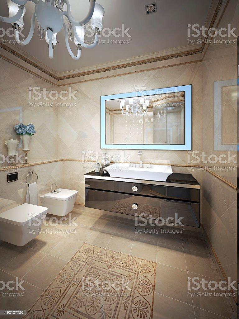 Elegant bathroom design stock photo