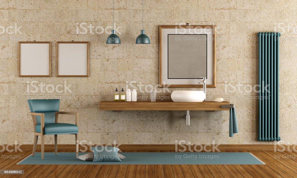 Elegantes Badezimmer mit Waschbecken – Foto