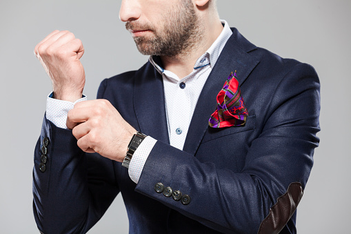 Elegant Bearded Man In Fashionable Attire Stock Photo - Download Image Now