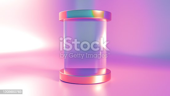1128982640 istock photo Elegant, beautiful abstract background with elements, studio, pedestal, minimalism. 3d illustration, 3d   rendering. 1205650763