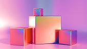 Elegant, beautiful abstract background with elements, studio, pedestal, minimalism. 3d illustration, 3d \n\nrendering.