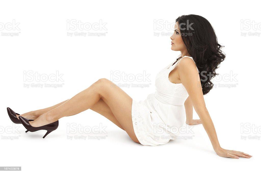 Elegant Beauty on White royalty-free stock photo