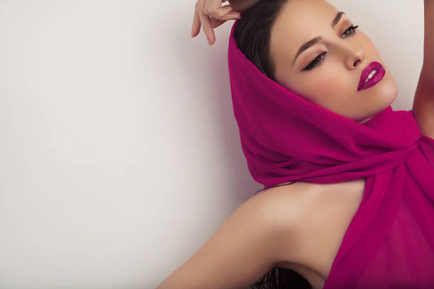 elegant beauty - magenta stock photos and pictures