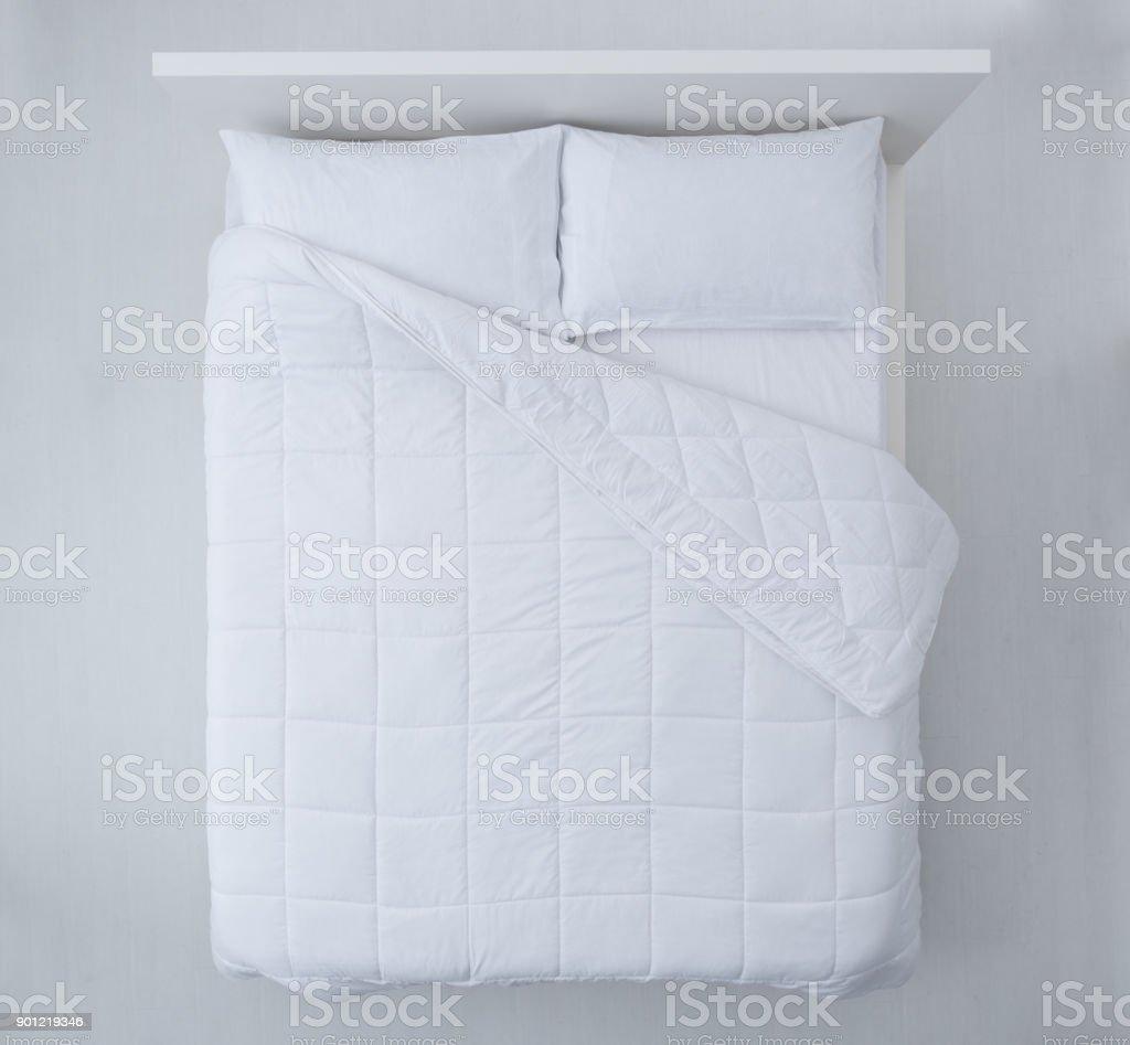 Vista superior cama elegante - foto de acervo