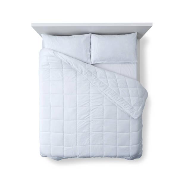 典雅的床頂視圖 - bed 個照片及圖片檔