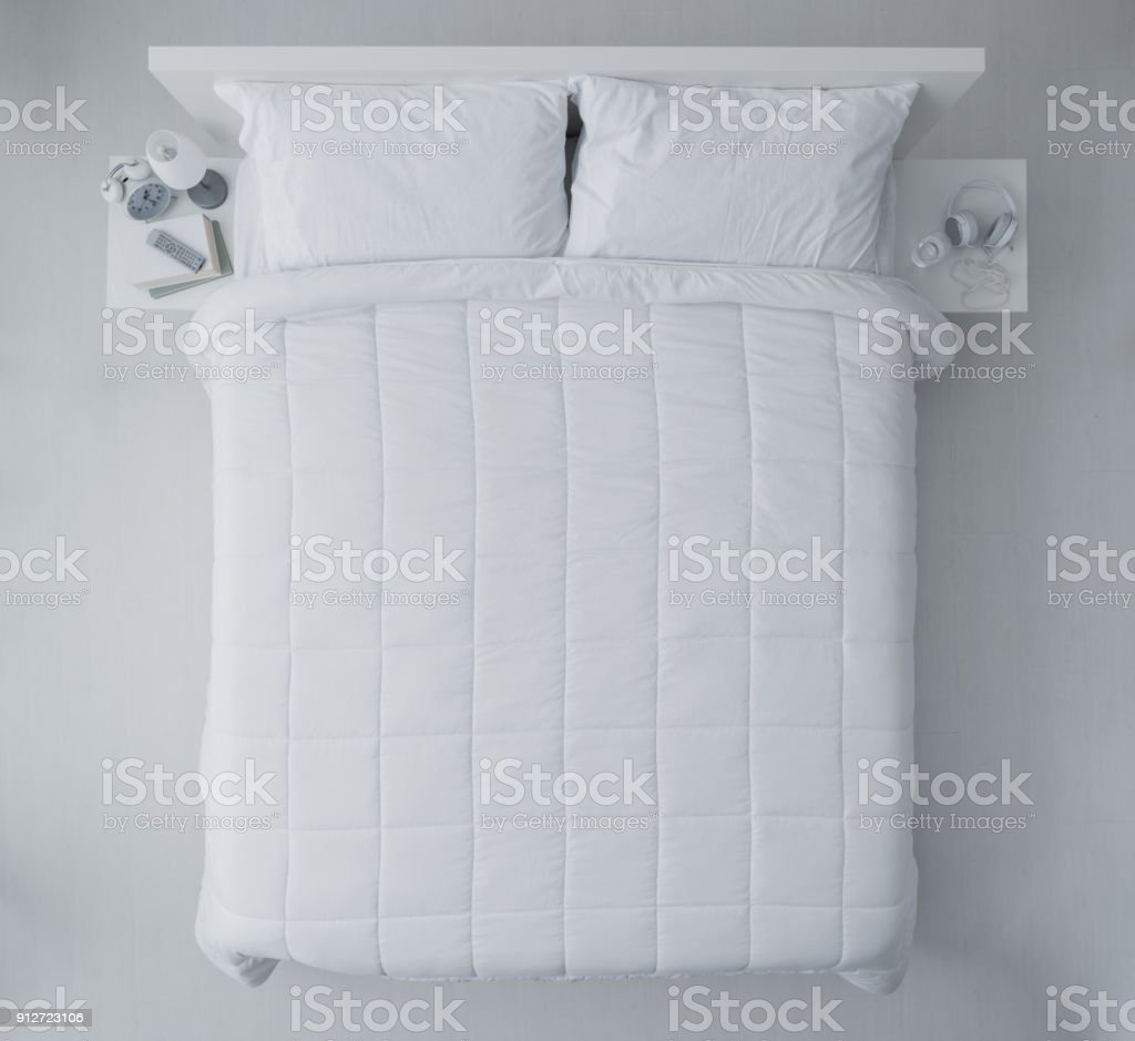 Elegant bedroom stock photo