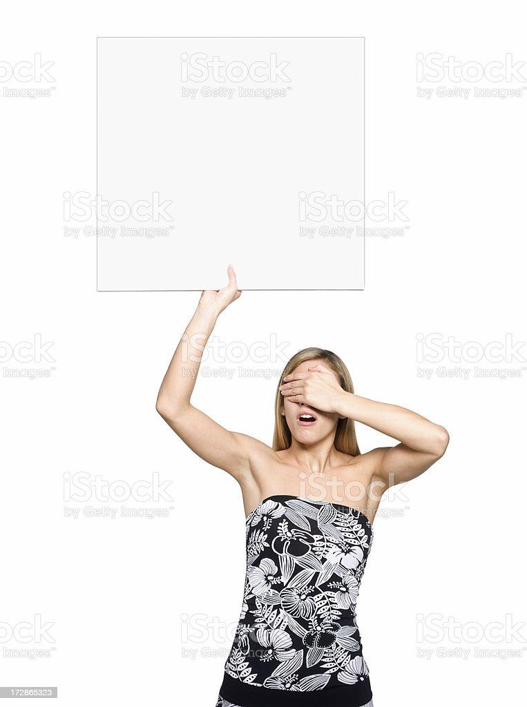 elegant billboard girl royalty-free stock photo
