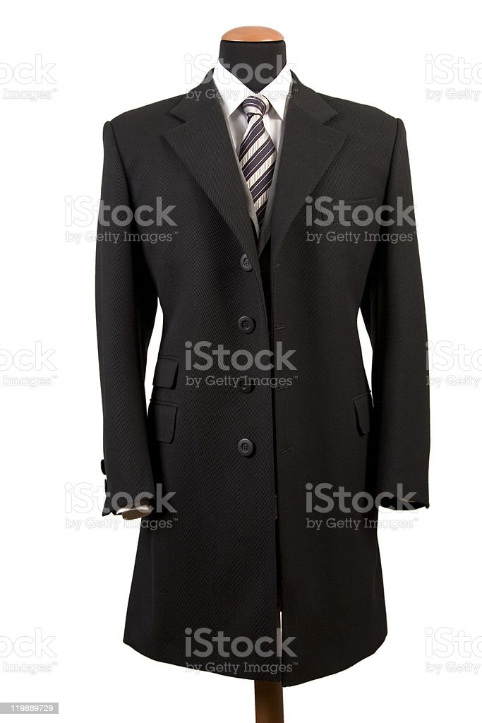 elegant black coat stock photo