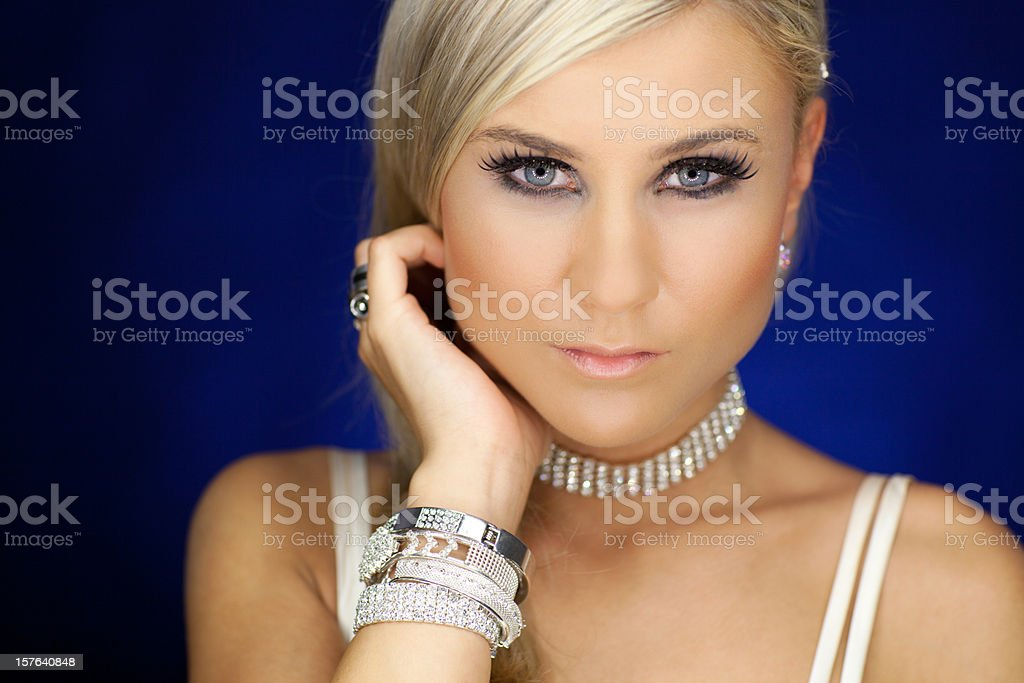 Elegant Blond Woman royalty-free stock photo