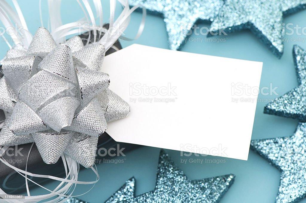 Elegant Blue Gray Present stock photo