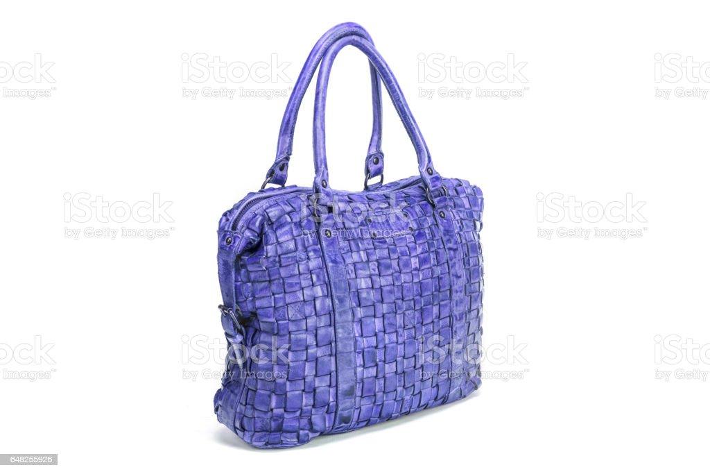 Elegante Handtasche Blaue Genäht Aus Verflochten nm0wNOv8